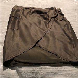 🍎 Olive Green wrap Skirt